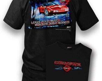 Corvette shirt - Wicked Metal Corvette Shirt - Leave Your Mark - Corvette C4 - Black