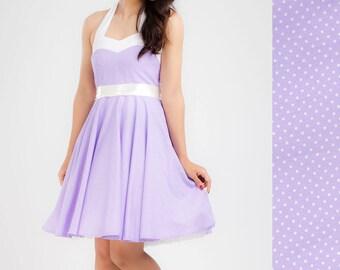 Lilac Dress Lilac Bridesmaid Dress Polka Dot Dress Purple Dress Retro Dress Corset Dress Rockabilly Dress Pinup Dress Plus Size Party Dress