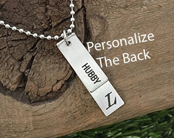 Secret Message Mens Necklace I Love You More Necklace For Husband Boyfriend Gift Personalized Necklace Mens Jewelry Initial Necklace