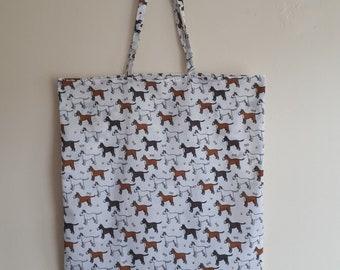 English Bull Terrier Dog Breed Tote Shopping Bag