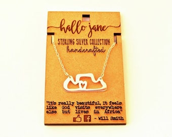 Table Mountain Necklace - Sterling silver