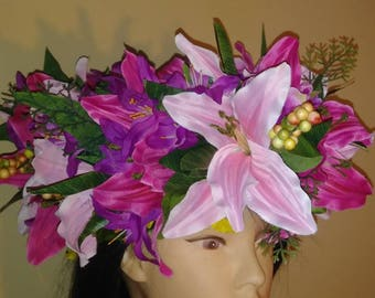 Very large Beautiful Flower Tahitian Po'o