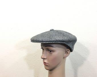 kangol all wool newsboy hat gray color size 7 1/8
