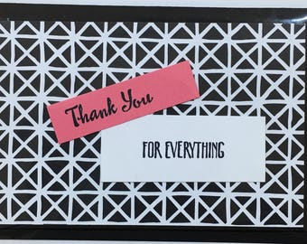 Thank You, Handmade card