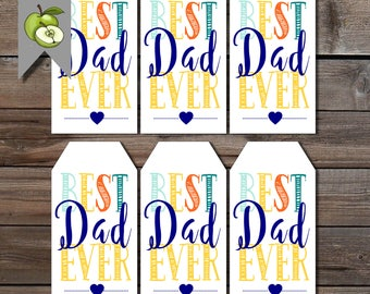 Best Dad ever, father' day gift tags, dad birthday tags, Papa  tag, dad printable, dad day gift tag, thank you tag, gift tag, digital files