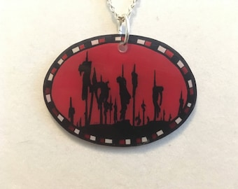 Dracula Necklace ~ Vampires ~ Vlad The Impaler ~ Gothic ~ Shrink Plastic Jewelry ~ Historical ~ Victorian ~ Deadly Dinks