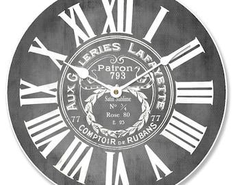 Galeries Lafayette Gray Wall Clock