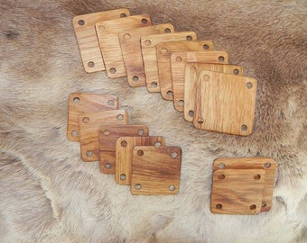 12 / 24 5 X 5 cm braid weaving cards (card weaving crafts weave tablet weave plate medieval viking Tablet)