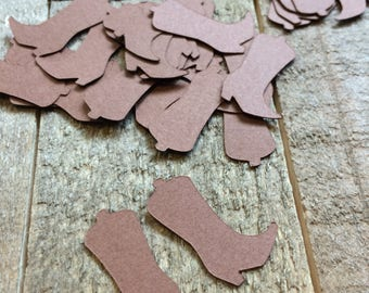 Brown Western Cowboy Boot Confetti / Western Party Confetti / Cowboy Table Decor / Western Theme Party Table Scatter C011