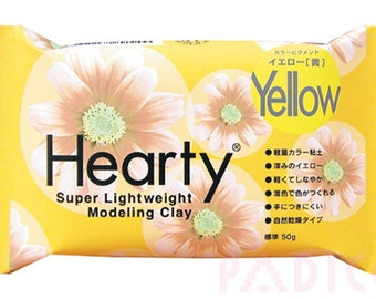 Padico Yellow Hearty clay super lightweight from Japan (50g) - Figurines / Doll / Flower / Miniature Food 303119