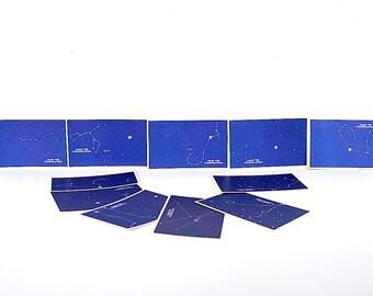Constellation Flash Cards - Zodiac Cards - Astrological Signs - Night Sky Decor - Star Decor - Zodiac Star Constellations - Astronomy Gift