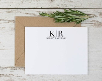 INITIAL Thank You Cards(8pk). Monogram Thank You Notes. Personalized Stationery. Notecard. Personalized. Stationary. Note Card. Stationery.