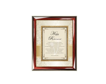 Personalized Retirement Poetry Gift Wall Frame Retirement Plaque Best Wishes Poem Colleague Boss Coworker Friend