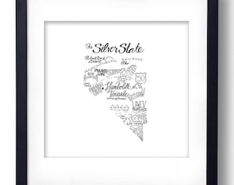 Nevada - Hand drawn illustrations and type