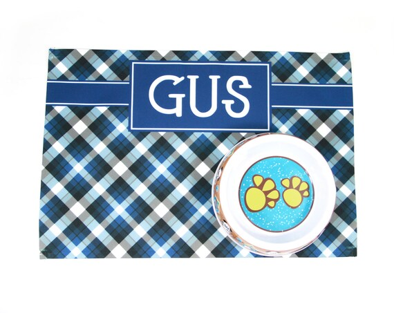 Gifts for Pet Lovers Personalized Pet Placemat Pet Food Mat Custom Cat Or Dog Place Mat Custom Designed Washable Canvas Fabric Placemat