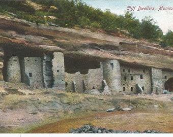 Cliff Dwellers Manitou Colorado Postcard