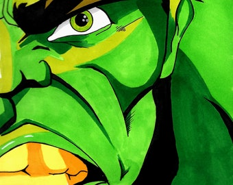Hulk Head Print