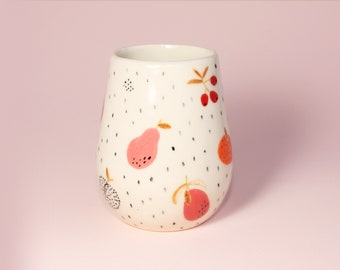 Handmade by Hesukinae Studio, Handmade Cup, Fruits Cup