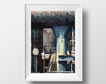 Art Print: Steel Stacks