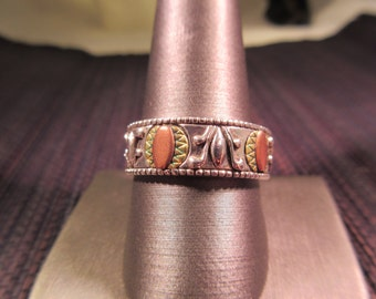Carolyn Pollack Sterling Silver Brass and Copper Ring - 11