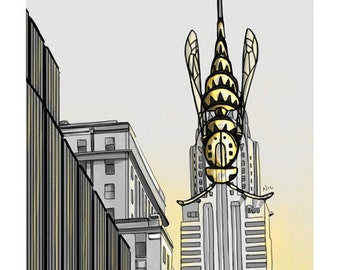 Stinger/Chrysler Building -- The Animals Everywhere Series, Print, 8x10
