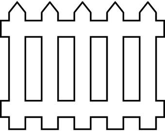 picket fence clipart etsy rh etsy com fence clip art pictures fence design clipart