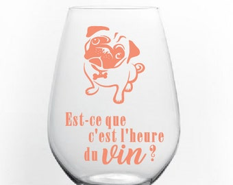 "Sticker ""is - what is the wine hour?"" version PUG"