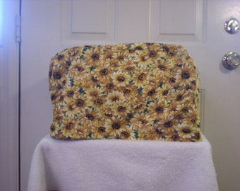Toaster Oven Cover - Yellow Daisy Floral Print