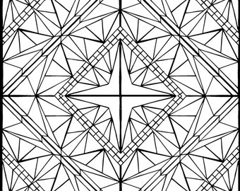 Coloring Page (Diamond)