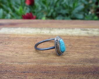 Blue Ridge Turquoise Stacker / Turquoise Stack Ring / Blue Turquoise Ring / Sterling Silver Ring / Turquoise Stackable Ring / Stacking Ring
