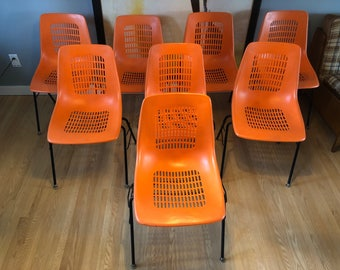 Rare Mid Century EM.67 chairs from expo 67 (8 in lot)
