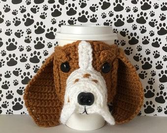 Basset Hound Gifts, Basset Hound Mom, Basset Hound Dog Mug Cozy, Basset Hound Lovers, Pet Mom Gift, Dog Breeder, Dog Owner Gift, Dog Cozies