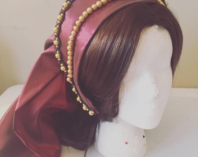 Anne Boleyn Tudor French Hood