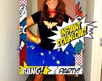 Calling all Superheroes Frame INSTANT DOWNLOAD Superheros