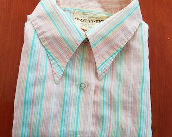 Vintage 1960s/70s Shirt by California West-Set