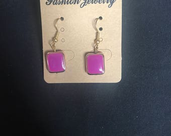 Small Single Square Earrings