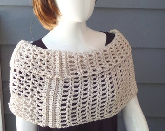 PATTERN C-080 / Crochet ... CLARICE Cowl ... worsted 300 yards