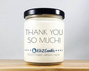 Thank|you|Gift Thank You Gifts Thank you Candle Customized Candle Personalized Candle Scented Soy Candle Thank You So Much Scented Candle