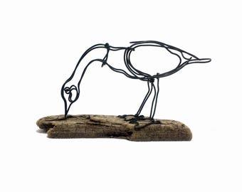 Goose Wire Sculpture, Wire Art, Minimal Wire Sculpture, Calder Inspired, 564425888