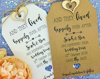 Vow Renewal Anniversary Invitation, Save The Date Tag/ Card Wedding Invitation, We Still Do