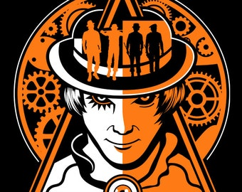 A Clockwork Orange Shirt Mens and Ladies Womens T-Shirt Unisex Adult Sizes Ultra-Violence Retro Movie Inspired T-Shirt