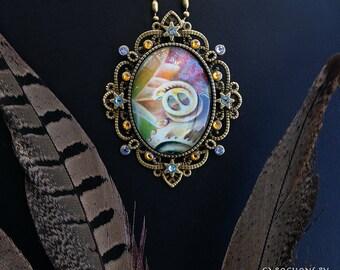 Snake Charmer - Swarovski Crystal Cabochon Necklace by Ishka Lha