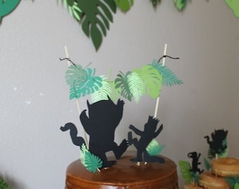 Wild Thing Cake Banner and Toppers