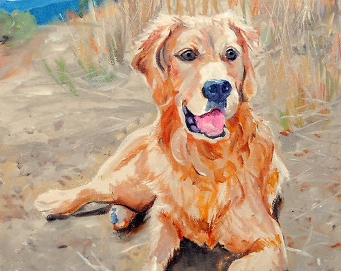 "Oil Painting Pet Portraits, 16"" x 20"", painted from photos, Golden Retriever or any breed"