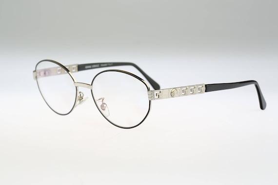 Gianni Versace G 68 78 M Vintage oval eyeglasses 90s mens &