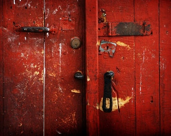 Red door - City Photography - Travel Photography - Wall Art - Colorful Art