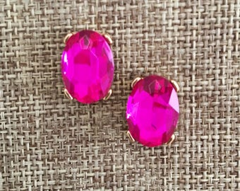 Our Chloe Studs Pink Crystal Teardrop Studs Crystals