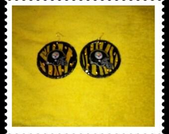 Large steelers earrings