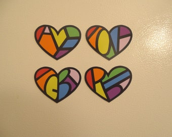 LGBT Pride Fridge Magnets - Hidden Message - Gay Pride Decor - Rainbow Magnet - Heart Magnet - Refrigerator Magnet - Ally, LGBT, Love, Pride