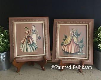 Turner Prints, Victorian Southern Belle Framed Prints, Framed Turner Prints, Vintage Framed Art